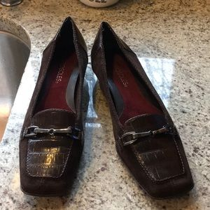 Aerosoles Leather, Suede Bit Loafers